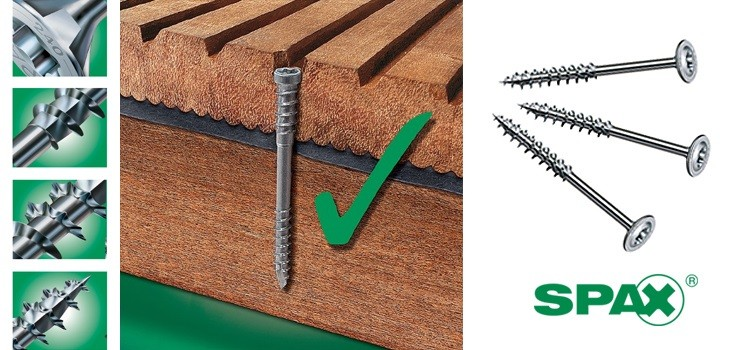 We have expanded the range of the top quality Spax screws