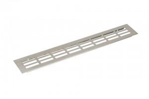 Ventilation grid 80/500mm stainless steel imitation