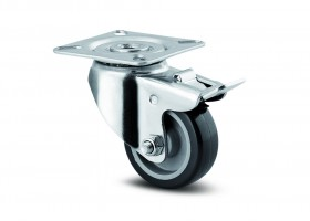 TENTE Castor rotating 1475 brake, with softened tread, diameter 50 mm