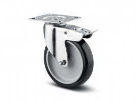 TENTE Castor rotating 1477 brake, with softened tread, diameter 75 mm