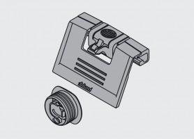 BLUM ZIF.80M7 Bracket + latch for inner drawer white