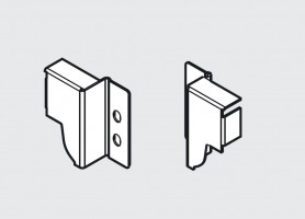 "BLUM Z30M000S.45 back holder Space Corner ""M""black R+L"