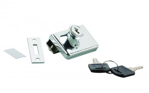 STRONG lock for two glass sheets, chrome