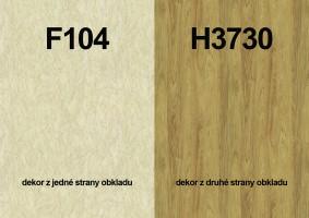 Zástěna F104 ST2/H3730 ST10 4100/640/9,2