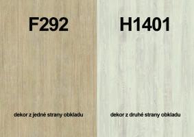Zástěna F292 ST9/H1401 ST22 4100/640/9,2