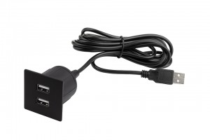 VersaPick, 2x USB, čtverec, černý mat, zamak