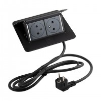 LEGRAND Pop-up v2, 2 x electric socket 230 V black matt