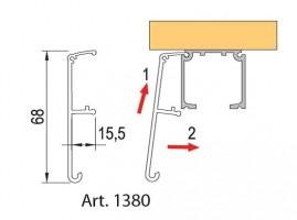 TE-int.pos.dv.40-120kg - krycí profil 6m