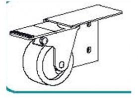 TE-vozík s brzdou vpravo art. 306/D