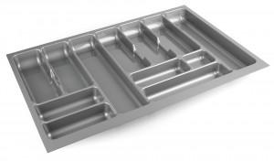 STRONG Cutlery tray 80/490 (735 x 490 mm) silver metallic