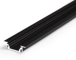 TM-profile LED Groove alu black 4000mm