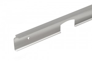 Corner connecting strip for worktops 38 stainless steel L/P