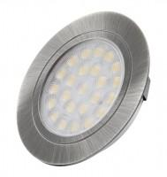 LED bodovka Oval nerez broušený teplá bílá