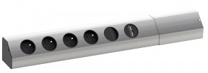 BACHMANN Casia 923.012, 4x230 socket + usb aluminium