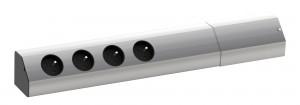 BACHMANN Casia 923.010, 4x230V, aluminium