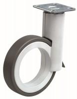 OGTM Castor Rotola 90 mm, aluminum, softened treads grey