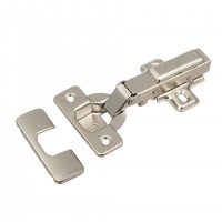 STRONG full overlay hinge 110° on screw, with damping, clip-type, set