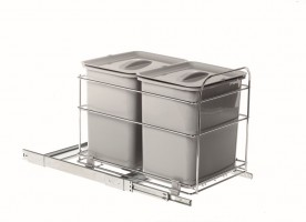 VIBO PET40FC trash bin 2x16 l 400 mm