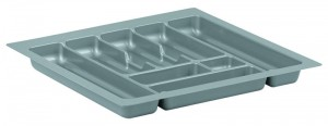STRONG Cutlery tray 40/490 (335 x 490 mm) silver metallic