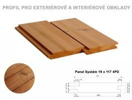 PALUBKY fasáda Borovice ThermoWood PanelSystém 4*P-D 4200/117/19