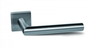 KT - door handle Nina-Q square PZ stainless steel imitation
