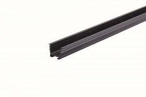 REHAU guide rail 8 mm for milling black