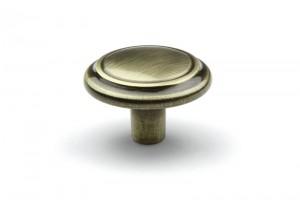 TULIP knob Turia old brass + screw