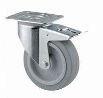 TENTE Castor rotating 3477 brake, with softened tread, diameter 100 mm