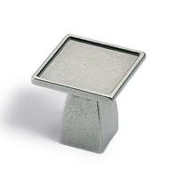 HETTICH 115264 Knob DIPO 30x30 mm tin