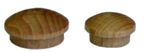 blind plug - cap with plug 10mm beech