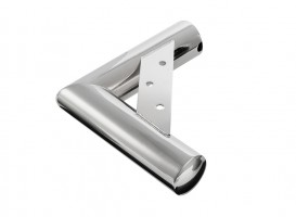 Furniture corner leg NN24 35/220x200 mm glossy chrome