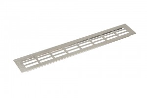 Ventilation grid 60/400mm stainless steel imitation