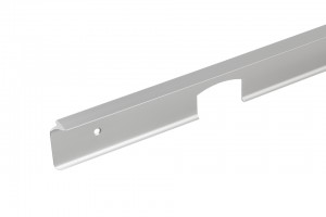 Corner connecting strip for worktops 38 aluminium L/P