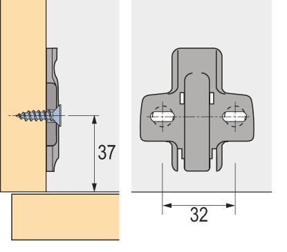 U 9071653 nos Hettich Croix plaque sys.8099 LBP Sta Vern .5 mm pilotz - schr.
